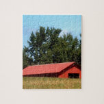 Red Georgia Barn Jigsaw Puzzle