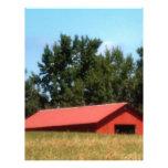 Red Georgia Barn Letterhead Template