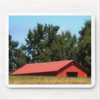 Red Georgia Barn Mouse Pad