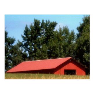 Red Georgia Barn Postcard