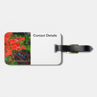Red Geranium blooms Tags For Luggage