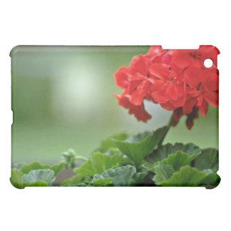 Red Geranium Blossom flowers iPad Mini Case