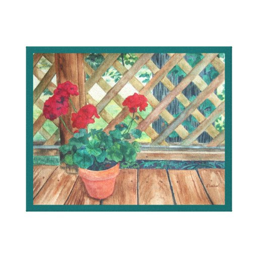 Red Geranium Gallery Wrap Canvas