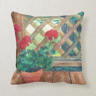 Red Geranium Pillow