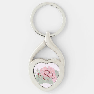 Red Geraniums and Buds Wedding Products Keychain