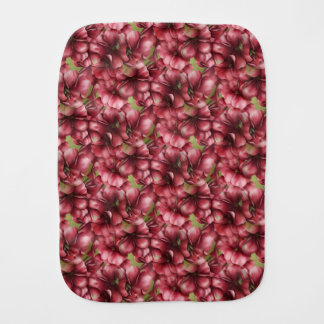 Red Geraniums Baby Burp Cloth