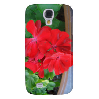 Red Geraniums CricketDiane Art Design Photography Galaxy S4 Cover