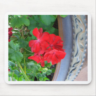 Red Geraniums CricketDiane Art Design Photography Mouse Pad