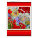 Red Geraniums Garden by Sharles Greeting Cards