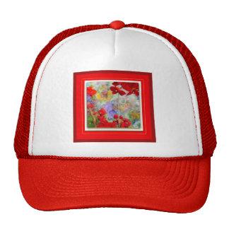 Red Geraniums Garden by Sharles Trucker Hat