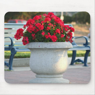 Red geraniums mousepad