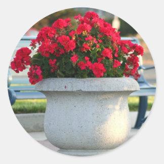 Red geraniums stickers