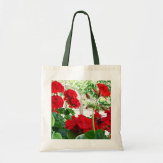 Red Geraniums Tote A Great Garden Gift Budget Tote Bag
