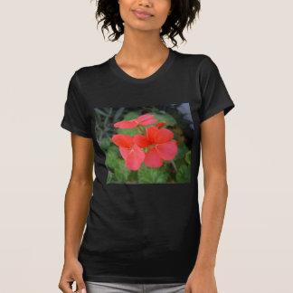 Red Geraniums Tee Shirts