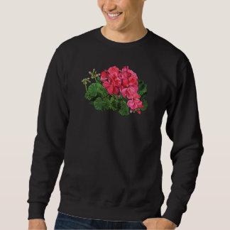Red Geraniums with Buds Mens Sweatshirt
