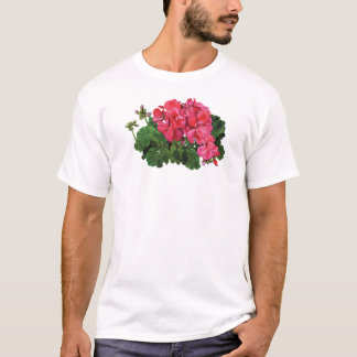 Red Geraniums with Buds Mens T-Shirt