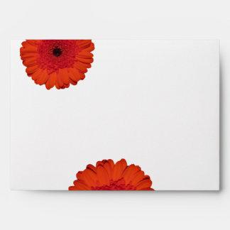 Red Gerber Daisy Wedding Invitation A7 Envelopes