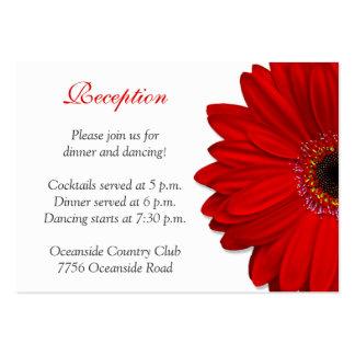 Red Gerber Daisy Wedding Reception Card