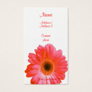Red Gerbera Business Card