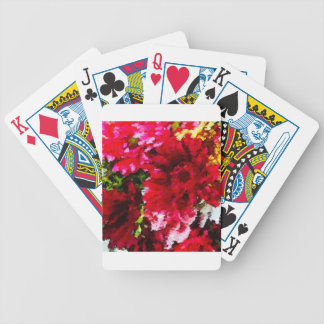 Red Gerbera Daisy Abstract Bicycle Playing Cards