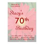 "Red Gerbera Daisy Birthday Invitation 5"" X 7"" Invitation Card"