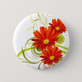 Red Gerbera Daisy Button