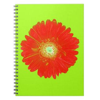 Red Gerbera Daisy Spiral Notebook