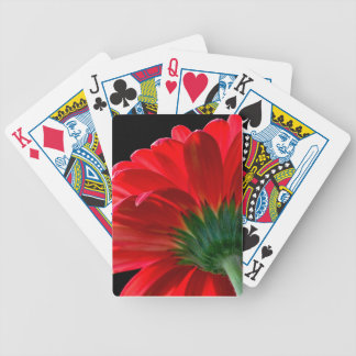 Red Gerbera Daisy Bicycle Playing Cards