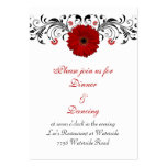 Red Gerbera Daisy Reception Card Business Card
