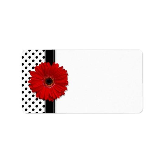 red gerbera daisy wedding blank address labels zazzle com