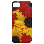 Red Gerbera Daisy Yellow Sunflower iPhone 5 Case