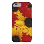 Red Gerbera Daisy Yellow Sunflower iPhone 6 case iPhone 6 Case