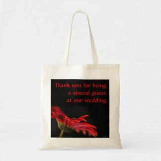 Red Gerbera Flower Wedding Tote Bag