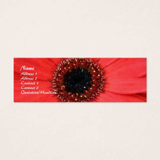 Red Gerbera, Mini Business Card