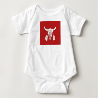 Red Ghost Dance Buffalo baby bodysuit