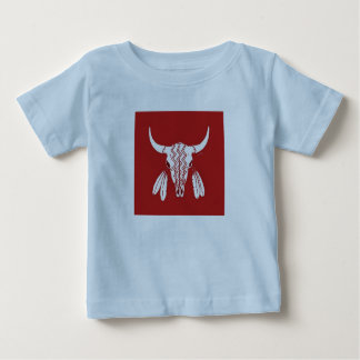 Red Ghost Dance Buffalo baby boys blue shirt