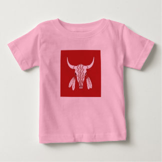 Red Ghost Dance Buffalo baby girls pink shirt