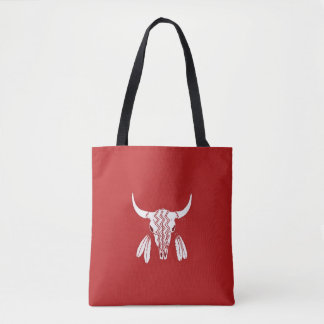 Red Ghost Dance Buffalo tote bag