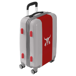 Red Ghost Dance Buffalo UGOBAGS carry on suitcase
