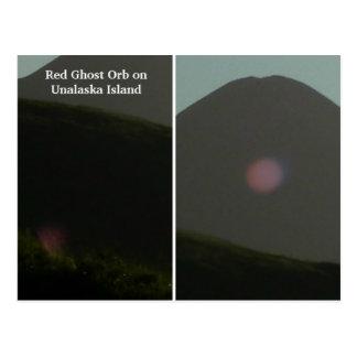 Red Ghost Orb on Unalaska Island Post Card