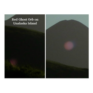 Red Ghost Orb on Unalaska Island Postcard