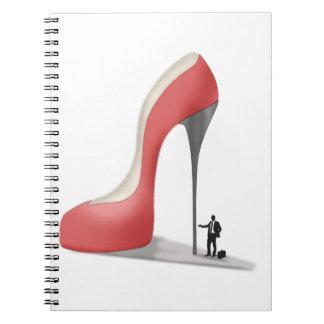 Red Giant Business Stiletto Cartoon Spiral Notebook