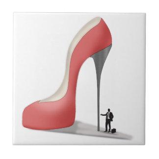Red Giant Business Stiletto Cartoon Tile