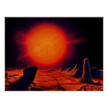 Red giant Sun Print