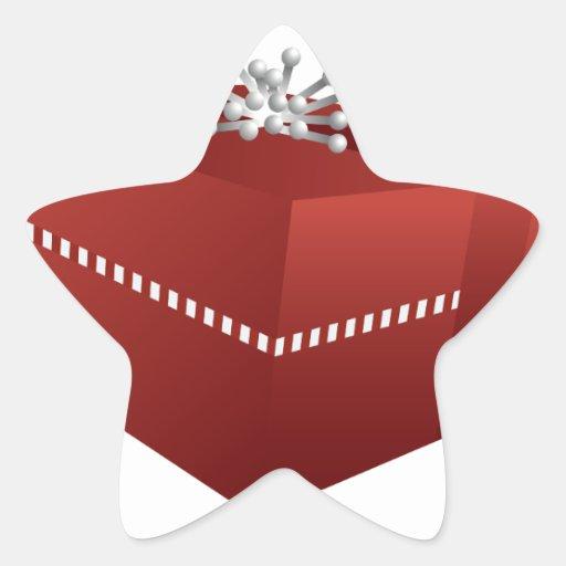 Gift Box Icon Red : Red gift box icon star sticker zazzle
