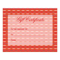 red gift certificate flyer