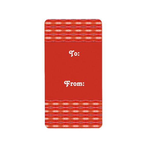 red gift tags address label