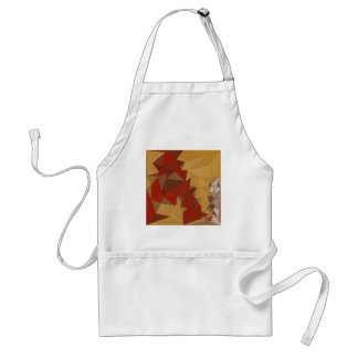 Red Ginger Abstract Low Polygon Background Adult Apron