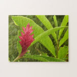 Red Ginger Flower I Jigsaw Puzzle