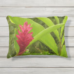 Red Ginger Flower I Outdoor Pillow